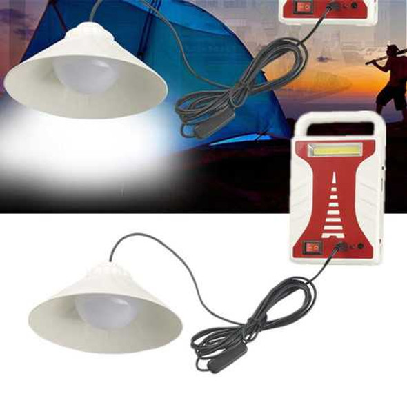 COB+14SMD LED Outdoor Camping Light Portable USB Solar Charging 3000mAh Battery Searchlight With Po