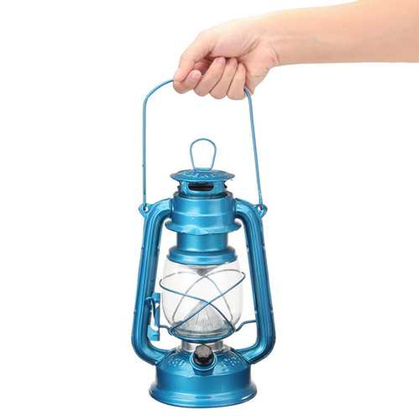 Vintage Style 15 LED Emergency Light Battery Operated Indoor Outdoor Camping Fishing Lantern