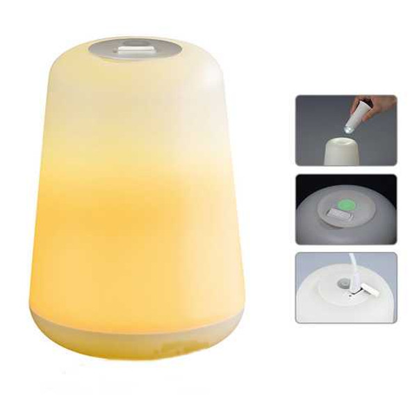 1W USB Night Light Bedside Lantern Plastic 60LM Two Modes Camping Lamp Table Desk LED
