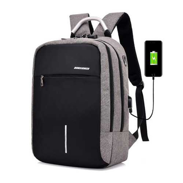Travel Laptop Backpack Anti Theft Bag with Combination Lock & USB Charging Port