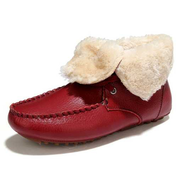 Winter Fur Lining Keep Warm Casaul Cotton Ankle Snow Boots