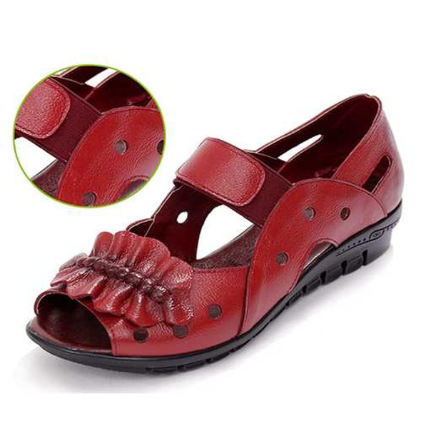 Genuine Leather Casual Flat Sandals