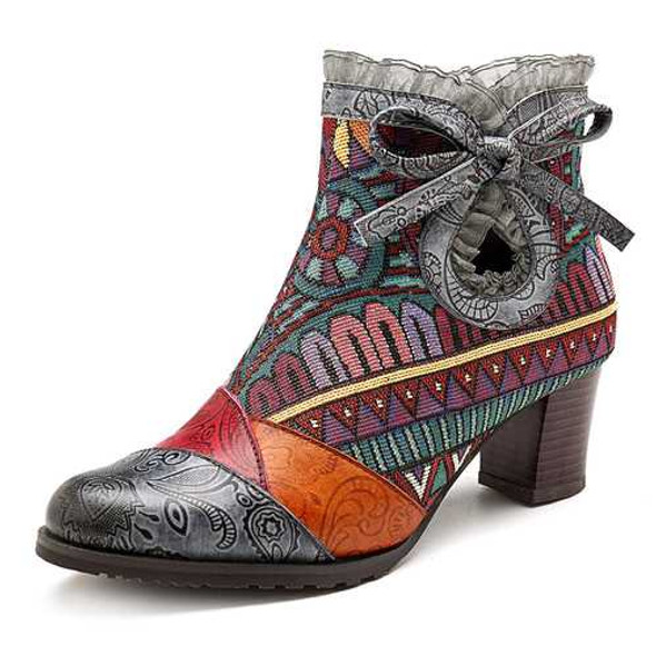 SOCOFY Shoes Women Casual Leather Boots