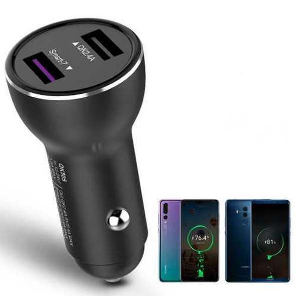 Bakeey QK518 Dual USB Quick Charge 3.0 Fast Car USB Charger for iPhone for Samsung Huawei