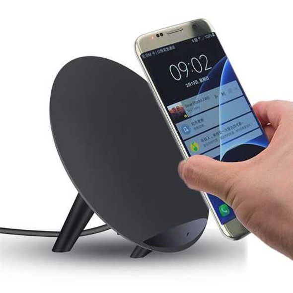 K10 Qi Wireless Fast Desktop Holder Stand Charger for Samsung Galaxy S8 S8 Edge S7 S6 Edge