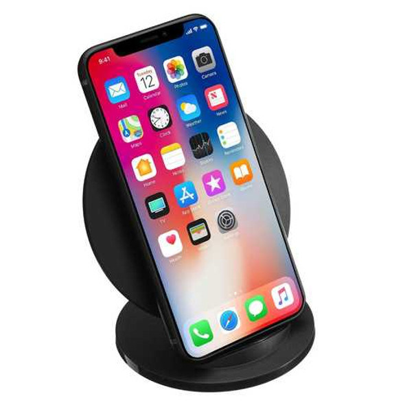 Q8 10W Fast Wireless Charger Stand Pad for iPhone 8 /X Samsung Note8/S8/S8+/S7edge/S7/Note5
