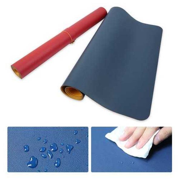 80x40cm Both Sides Two Colors Extended PU leather Mouse Pad Mat Large Office Gaming Desk Mat
