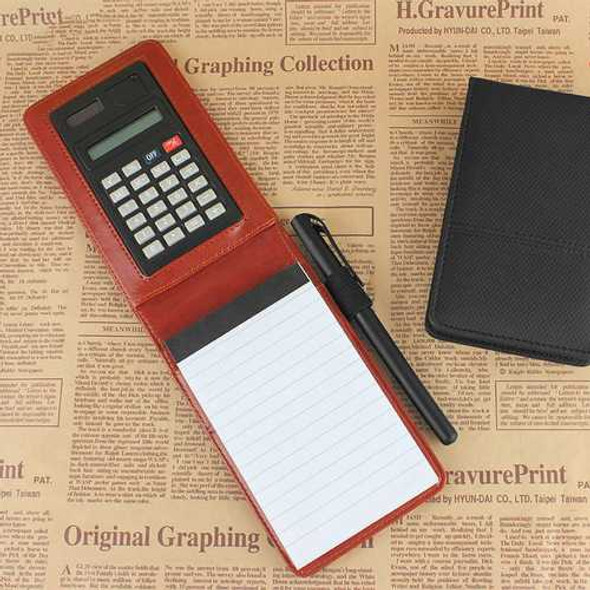 RuiZe Creative PU Leather Diary A7 Planner Multifunction Pocket Mini Notebook with Calculator For S