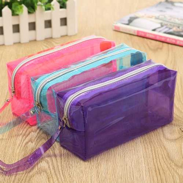 Clear Cosmetic Bags Pouch Zipper Toiletry Multifunctional Plastic PP Bag Lady Makeup Case L Size