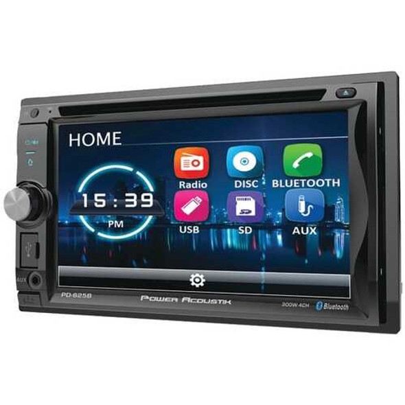 """Power Acoustik PD-625B 6.2"""" Incite Double-DIN In-Dash Detachable LCD Touchscreen DVD Receiver with"""