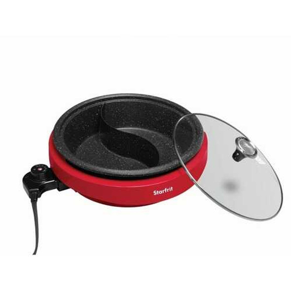 Starfrit 024425-002-0000 THE ROCK by Starfrit Dual-Sided 3.2-Quart Electric Hot Pot