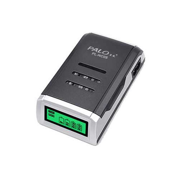 Palo C905W 4 Slot LCD Display AA AAA NiCd NiMh Rechargeable Battery Charger