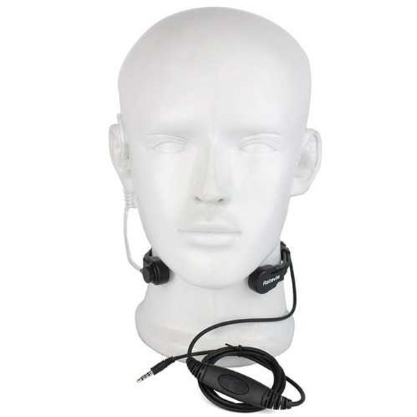 Retevis R-151 1Pin 3.5mm PTT Throat Mic Earpiece Covert Air Tube Headset With Slow rebound Earbud f