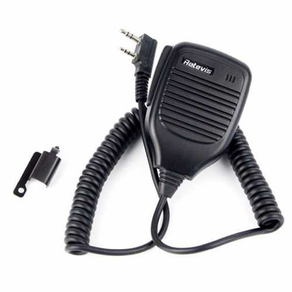 Retevis 2Pin PTT Speaker Microphone Walkie Talkie Mic Accessories For Baofeng BF-888S RT5R H777 For