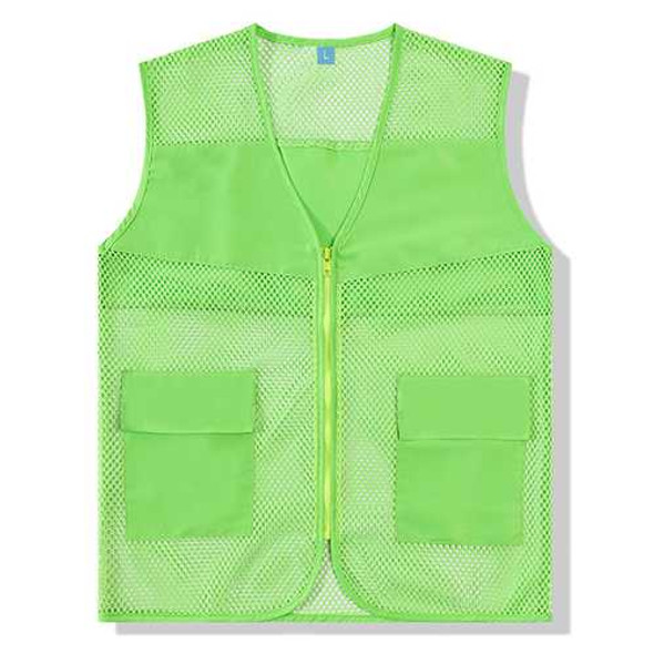Outdooors Mesh Breathable Cool Light Weight Thin Volunteer Environmental Protection Worker Vest