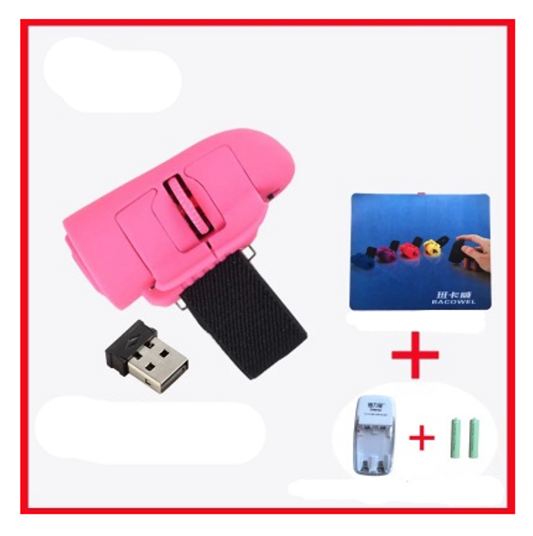 Color: Pink, Style: 3style - 2.4G wireless ring photoelectric lazy business micro creative mini cut
