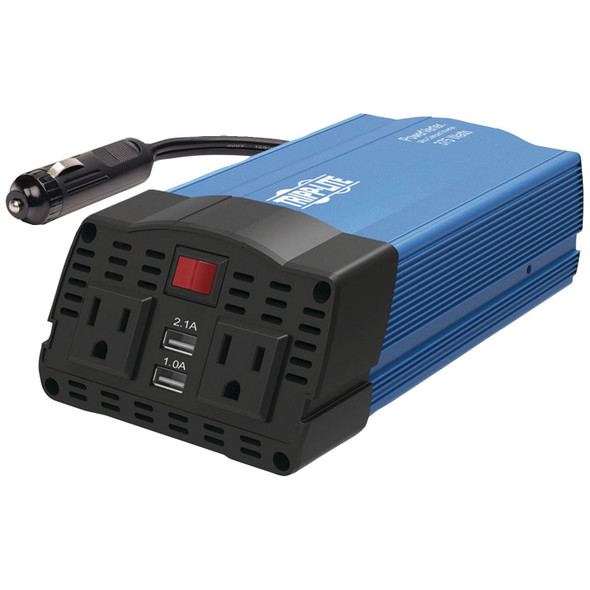 Tripp Lite PV375USB 375-Watt-Continuous PowerVerter Ultracompact Car Inverter with USB & Battery Ca