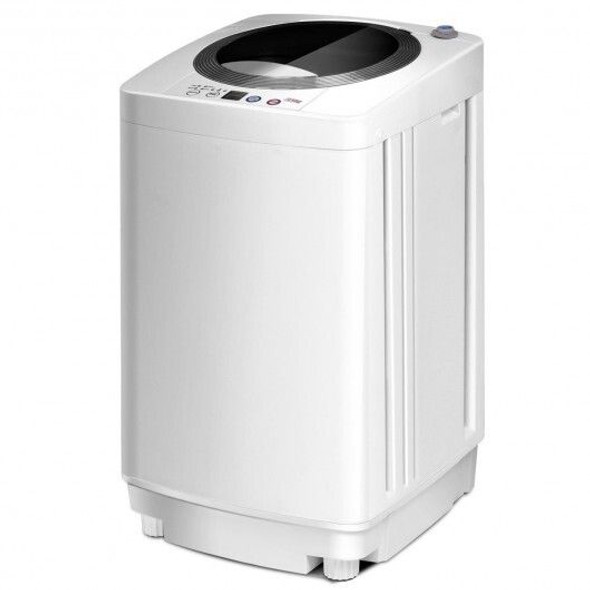 Portable 7.7 lbs Automatic Laundry Washing Machine with Drain Pump for Home Apartment