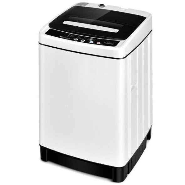 Full-Automatic Washing Machine 1.5 Cu.Ft 11 LBS Washer and Dryer -Gray
