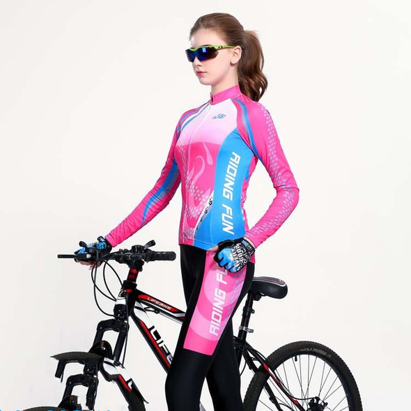 Summer cycling clothes for men and women - Color: Purple velvet Female, Size: XXL