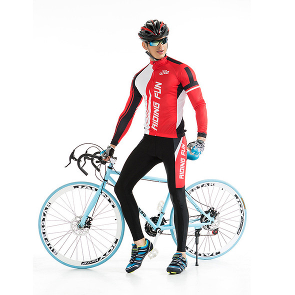 Summer cycling clothes for men and women - Color: Blue male, Size: M