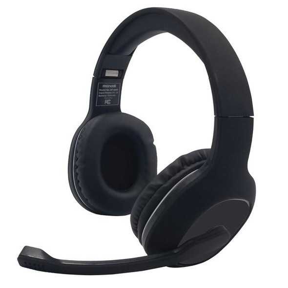 Maxell 199342 Bluetooth Headphones with Boom Microphone
