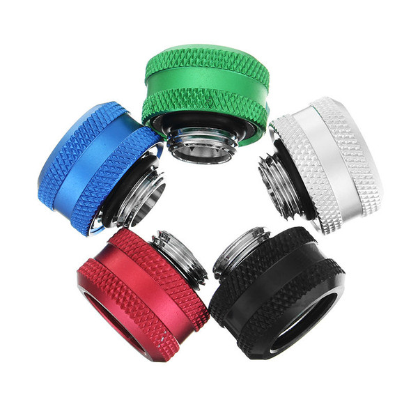 G1/4 Thread Rigid Tube Compression Fittings OD 14mm Hard Tube Extender Fittings for PC Water Cooling
