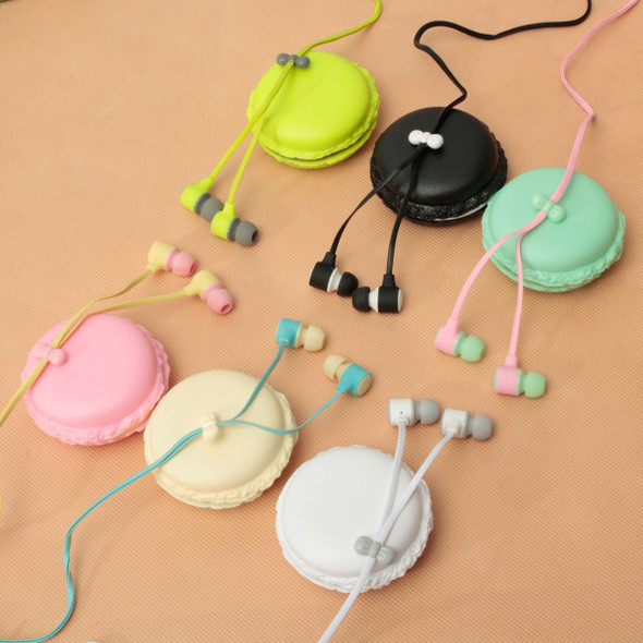 Portable In-Ear 3.5mm Earphone Headset Macaron Storage Case For Phone Tablet PC