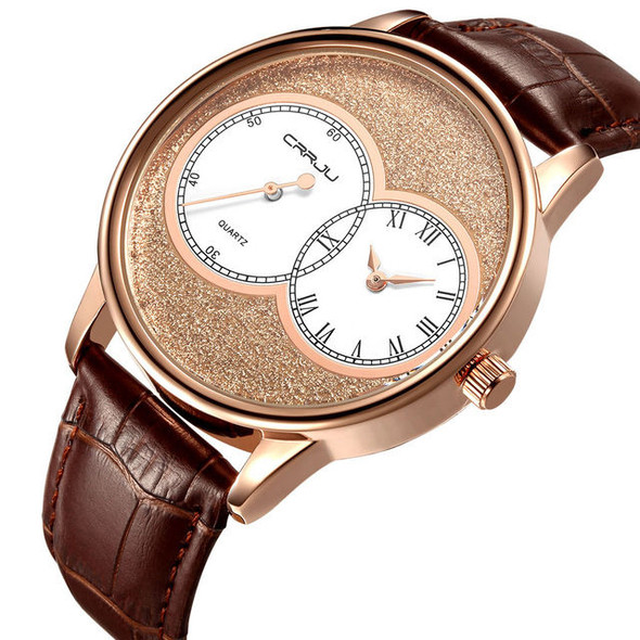 CRRJU 2133 Two Dial Display Casual Style Men Wrist Watch