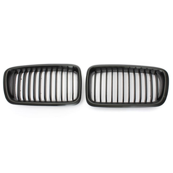 Pair Front Kidney Grills Grilles For BMW E38 7 Series 95-01