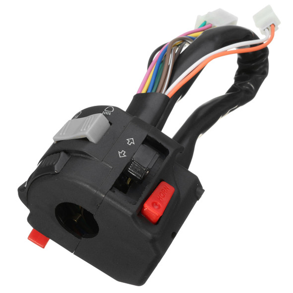 7/8inch Left Motorcycle Handlebar Horn Turn Signals High/Low Beam Headlight Switch