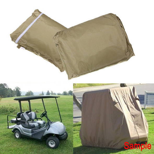 112Inch Golf Cart Cover Taupe Color Protect Against Rain Snow Sun