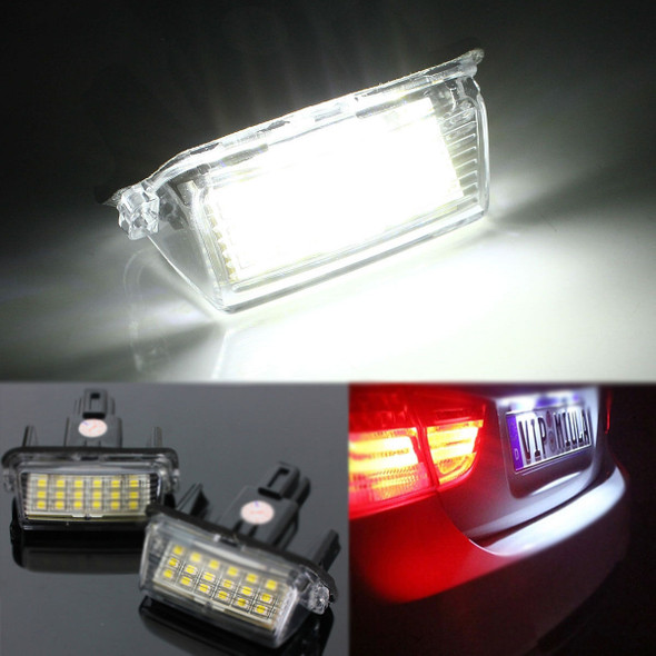18 LEDs License Number Plate Car Lights Lamp for Toyota Camry Yaris