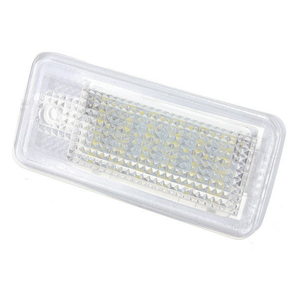 Pair 18 LED License Plate Lights for Audi A3 S3 A4 B6 B7 A6 S6 Q7