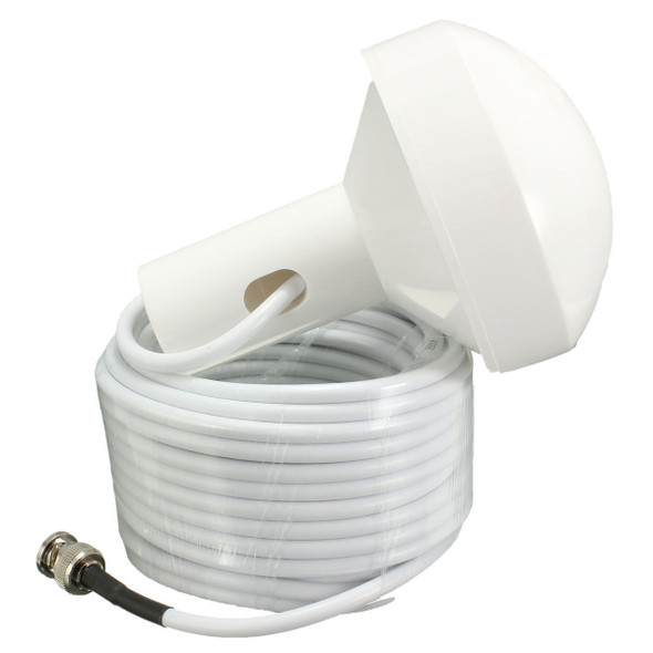 GPS Active Marine Navigation Antenna 10 Meters With BNC Male Plug Connector New