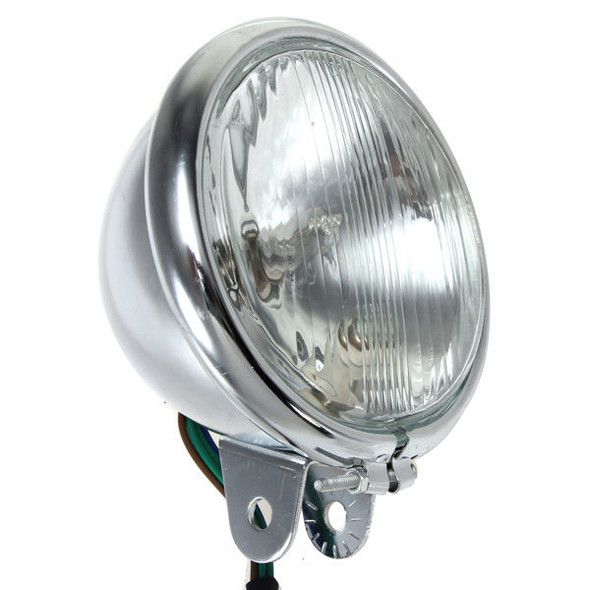 Motorcycle Chrome Front Headlight for Harley Bikes Chopper Touring