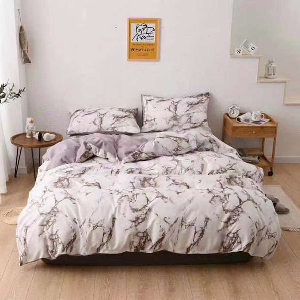 Color: Grey, Size: 228x228 - Three sets of textured stone quilt cover and pillowcase