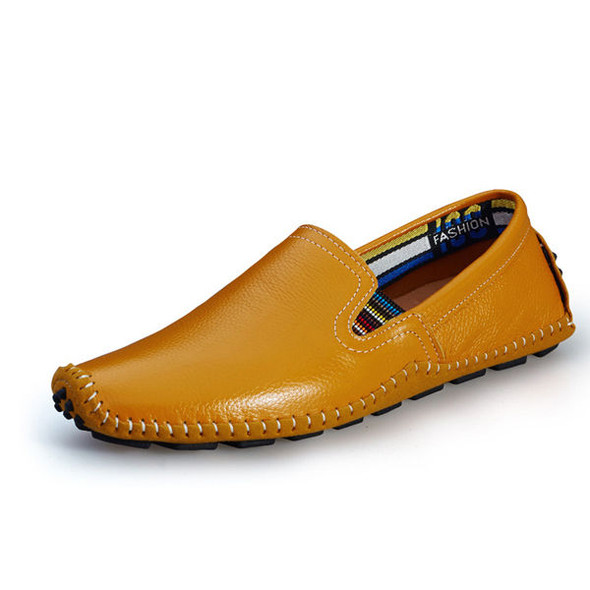 US Size 6.5-11.5 Men Leather Casual Outdoor Soft Slip On Flat Loafers