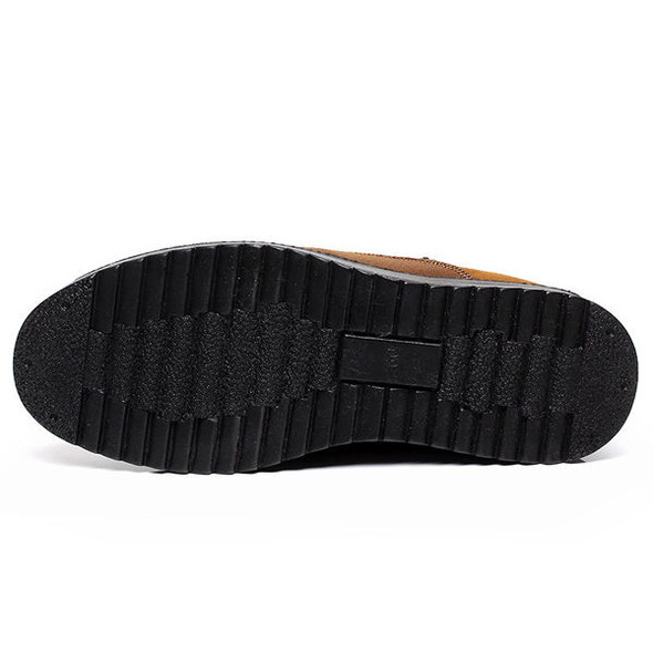 Slip On Soft Sole Wool Lining Round Toe Flats Warm Shoes For Men