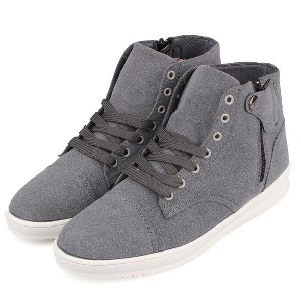 Mens British Style Canvas High Top Shoes