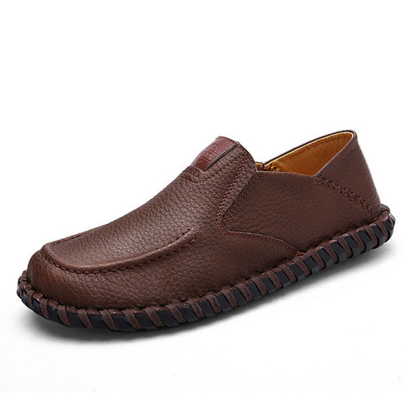 Men Soft Breathable Flat Shoes Casual Outdoor Leather Slip On Oxfords