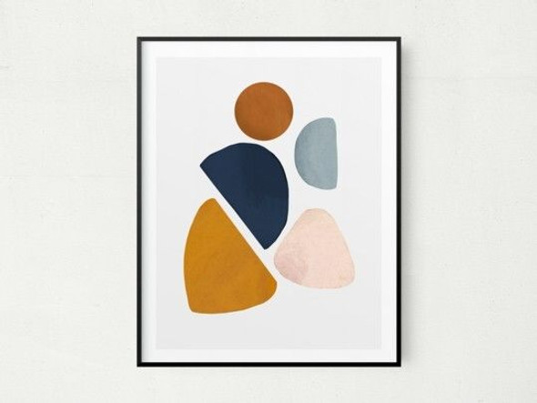"""8"""" x 10"""" Contemporary Pieces Abstract Watercolor Wall Art"""