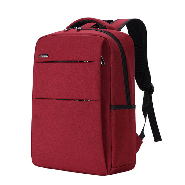 Color: Dark Gray, Size: 15.6inch - Waterproof and shockproof rechargeable backpack laptop bag