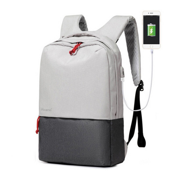 Color: 1601 blue, Size: 2pcs - Cross border Picano custom computer bag backpack leisure student pac