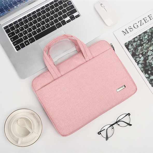 Color: Pink, Style: A, Size: 11to12inch - Men and women one-shoulder laptop liner bag