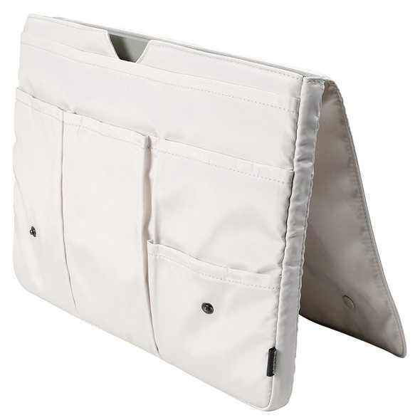 Color: White, Size: 15inches - Multi-compartment Handheld IPad Storage Bag Waterproof And Anti-coll