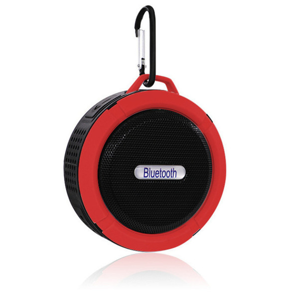 Color: Red - Stall Source Foreign Trade Wireless Portable Card Bluetooth Audio C6 Gift Bathroom Wat