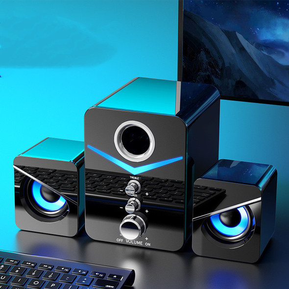 Color: Black, style: Bluetooth models, power: USB - Desktop Computer Sound Bar Speakers with Compac