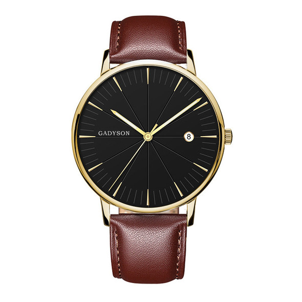 style: F - Europe And The United States New Simple Black Business Calendar Men Watch