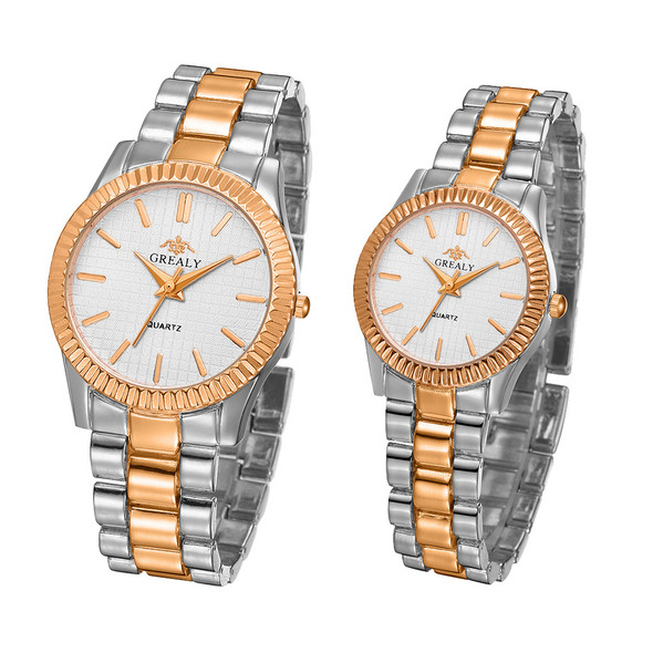 Color: Gold?Silver, style: Both - Couple Watch 2019 Mens Watches Top Brand Luxury